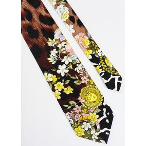 ❣ Gianni Versace Couture 100% Silk Tie Made Italy